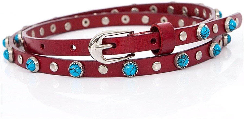 HSDDA Dog Outdoor Leash Women Fashion Dress Leather Decoration Knot Waist Belt Walking Leash (color   Red, Size   8393cm)