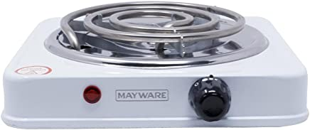 Mayware HY1000A Parrilla Eléctrica, color Blanco