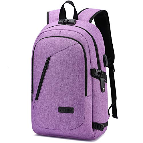 Laptop Backpack for Women,Business Backpack Anti-Theft College Backpack with USB Charging Port and Lock 15.6 Inch Computer Backpacks for Women Men Middle High School Student Gift,Bookbag