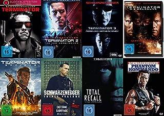 10 Filme ARNOLD SCHWARZENEGGER Mega Uncut Collection – Terminator 1 2 3 4 5 + Last Stand + Sabotage + Maggie + Total Recall + P
