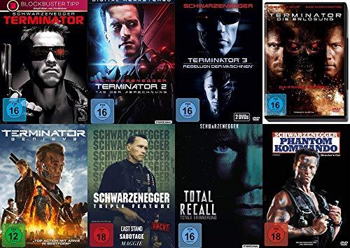 10 Filme ARNOLD SCHWARZENEGGER Mega Uncut Collection – Terminator 1 2 3 4 5 + Last Stand + Sabotage + Maggie + Total Recall + Phantom Kommando DVD Edition