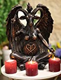 Ebros Large 16' Tall Church of Satan Sabbatic Goat Idol Samael Lilith Baphomet Seated Statue Wicca Satanic Occultic Illuminati Sculpture The Horned God Figurine