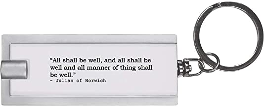 Quote by Julian of Norwich Keyring LED Torch (KT00005805)