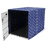 Morezi Dog Crate Cover for Wire Crates, Heavy Nylon Waterproof, Fits Most 36' inch Dog Crates, Easy to Put On, Take Off, and Adjust - Cover only - Blue - Large