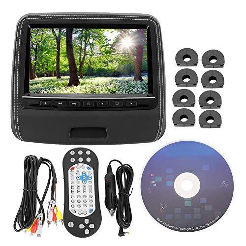 Monitor de coche-9 pulgadas Asiento trasero de coche Monitor de reposacabezas Pantalla DVD Video HD Media Player