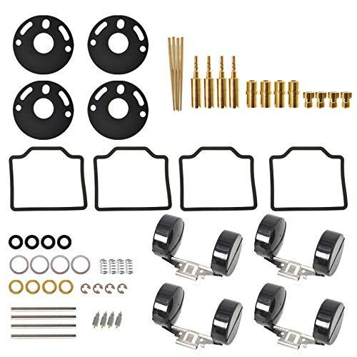 labwork 4-Pack Carburetor Carb Repair Rebuild kits with Float Replacement for 1969-1974 Honda CB750 1975-1976 Honda CB750K