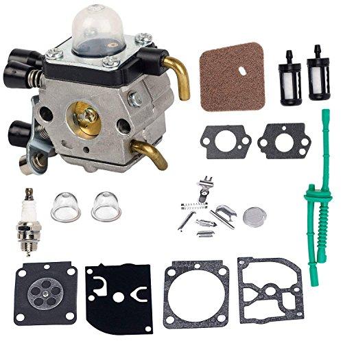 HIFROM Replace C1Q-S97 Carburetor Repair Kit with Air Filter Fuel Line Kit Replacement for STIHL FS38 FS45 FS46 FS55 FS45C FS46C FS55C FS55R FS55RC Trimmer KM55 KM55C Kombi Motor