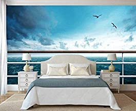 Wallpaper Wall Mural Large Custom Home Decor 3D Sea View from Penthouse Scenery Tv Background Self Adhesive Wallpaper Murals,150Cmx105Cm