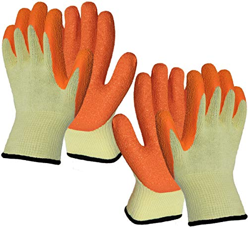 2 Pairs Superior Grip Garden Work Gloves for Women and Men, High Visibility Comfortable for...