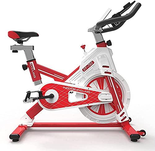 Bicicleta giratoria Bicicleta estática para Gimnasio en casa, Ejercicio aeróbico para Adultos Bicicleta estática para Interiores Bicicleta Fija con Soporte para Ipap (Color: Negro)