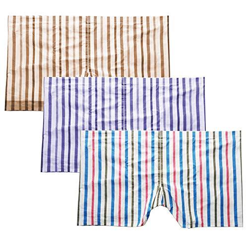 QSN STUFF Gents Cotton Lycra Multicolor Large Boxer Underwear ,(Pack of 3 Pieces)