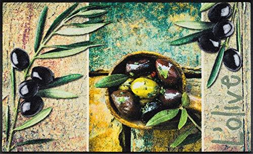 Wash+Dry Tapis, Surface en Polyamide, Vert, 75 x 190 cm