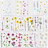 Konsait 25 Sheets Flower Temporary Tattoos, Fake Tiny Temporary Tattoo Waterproof Body Art Sticker for Women Girls Kids,Hand Neck Wrist, Brirthday Party Favour Supplies,Party Bags Filler