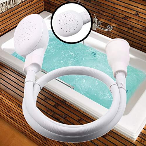 Dog Shower Head Spray Drains Strainer Pet Bath Hose Sink Washing Hair Pet Hairdresser Hair Wash Pet Push Saving Shower - White