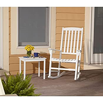 Mainstays Outdoor Wooden Porch Rocking Chair White Color
