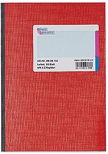 König & Ebhardt 8618752 Geschäftsbuch / Kladde (A5, kariert, 96 Register)