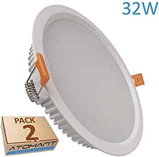 (LA) 2x Panel LED redondo 32w, corte 205mm (standard), 2800