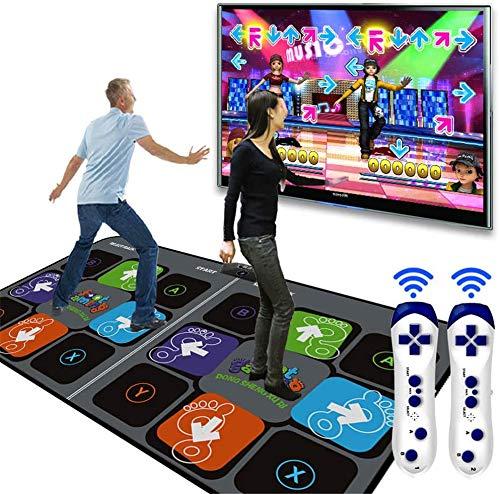 LJXiioo Light Up Game Tanzmatte, Dancing Step Pad, Tanzspiele im Arcade-Stil Somatosensorisches Gamepad TV-Videospiele Yoga für Fitness Party Home