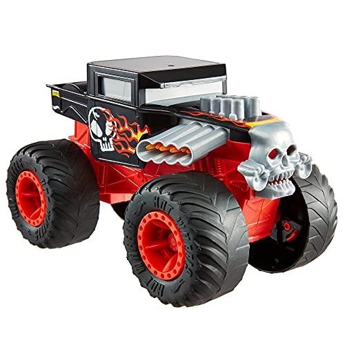 Hot Wheels- Monster Trucks Veicolo Bone Shaker Scala 1:24, Macchinina Giocattolo per Bambini 3+...