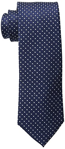 Tommy Hilfiger Men's Navy Ties, Dotted Navy, One Size