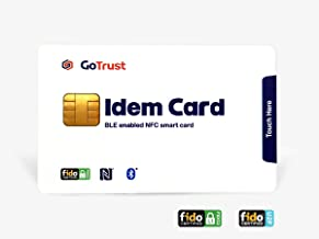 GoTrust Idem Card - FIDO2 & U2F BLE and NFC Security Key for First and Second Factor Authentication. Standard Smart Card form Factor with BLE and NFC Interfaces Across Mobile Devices and Computer