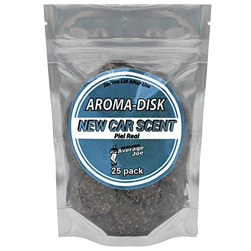 Aroma Chips New Car Smell (25 Pack) Car Air Freshener with 2 Vent Clips Odor Removing, Long Lasting