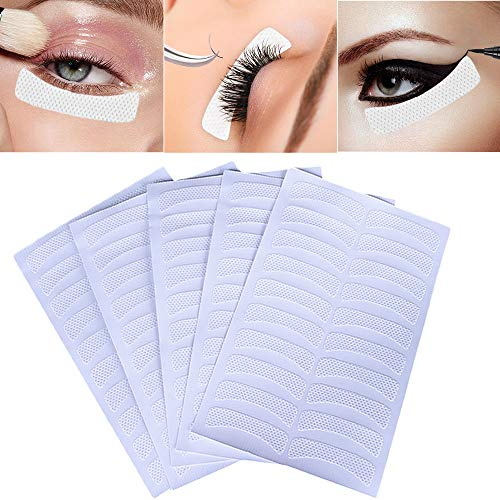 Kalolary 200PCS Eyeshadow Shields Eyelashes Pad, Disposable Eyeshdow Stencil Eyeliner Patches Tape Makeup Stencils For Eyelash Extensions/Perming/Tinting Makeup