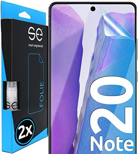 [2 Stück] 3D Schutzfolien kompatibel mit Samsung Galaxy Note 20, hüllenfreundliche transparente HD Displayschutz-Folie, Schutz vor Schmutz und Kratzern, kein Schutzglas - smart Engineered