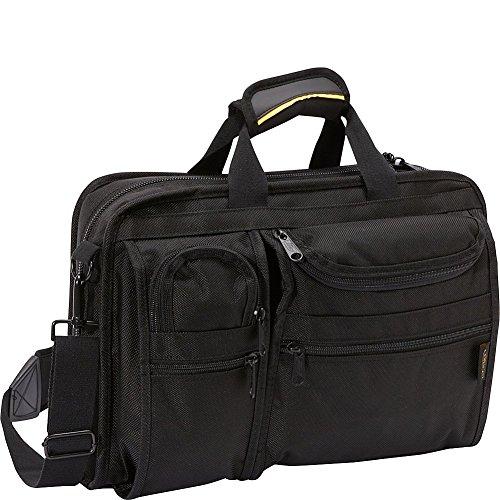 A.Saks Ballistic Nylon Organizer Brief 8 Pocket w/Laptop Compartment (Black)
