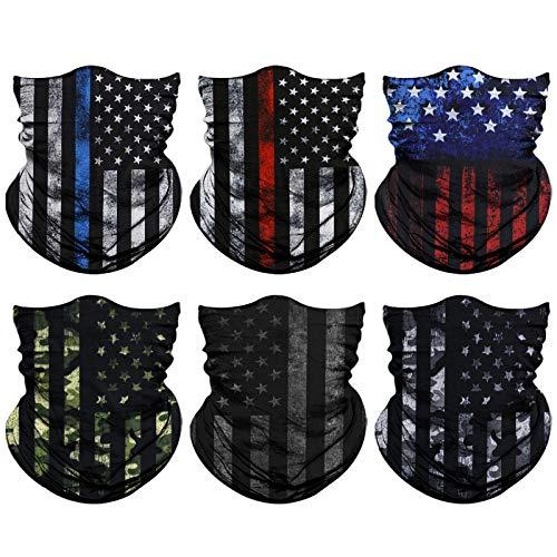 Venswell Neck Gaiter Mask, Sun Mask, Rave Bandana Face Mask, Seamless Face Scarf, Headband for Men Women (A-Flag 3)