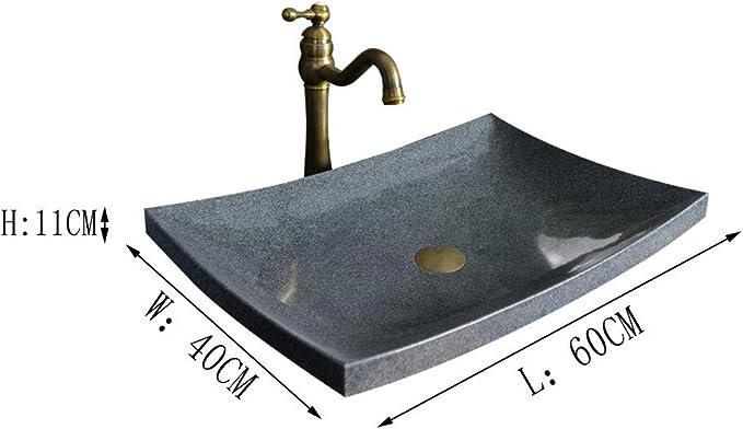 Nordic Stone Basin Rectangular Artificial Bowl Retro Worktop Basin Balcony Bathroom Ship Sink Wash Basin Amazon De Kuche Haushalt