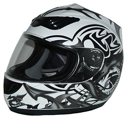 casco moto 60 Protectwear H510-11-WG-L Casco Integrale da Moto