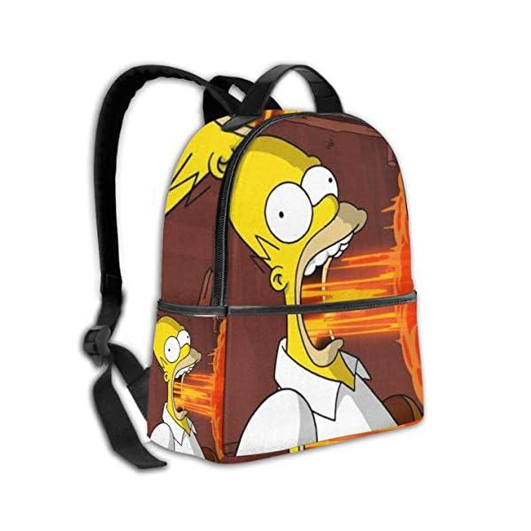 51irMUQjeTL. SS600  - The Simpsons - Mochila para Estudiantes, Unisex, diseño de Dibujos Animados, 14,5 x 30,5 x 12,7 cm