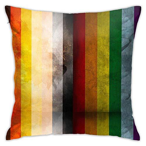 Fundas de almohada con bandera gay para cojín de 45,7 x 45,7 cm para casa, cama, sofá, coche, etc.