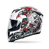 Casco Per Moto,Tickas Casco Da Uomo Casco Integrale E Copertura Integrale Casco Da Motociclista...