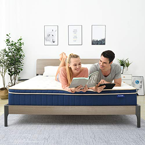 QueenMattress Sweetnight Queen Size Gel Memory Foam Hybrid Mattress8 Inch Individually Pocket Spring pillowtop MattressSupportive amp Great Motion Isolation for a Restful Sleep