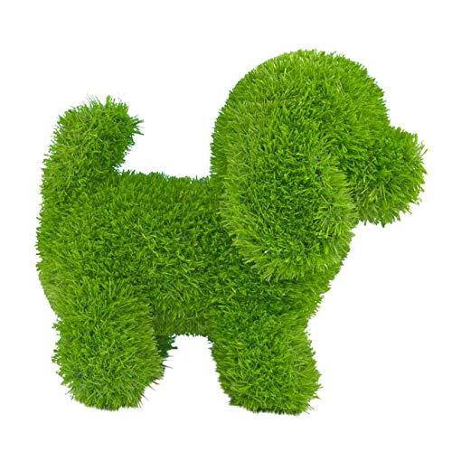 Kögler 53248 - AniPlants Hund stehend, Deko-Figur aus Kunstrasen, ca. 36 x 20 x 33 cm groß, wetterfest und formstabil, mit Ankern zur Befestigung, ideal als Deko für Garten und Haus
