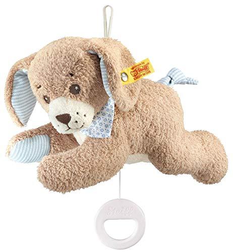 Steiff 239700 - Gute Nacht Hund Spieluhr, 22 cm, blau