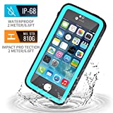 meritcase iPhone 5S Waterproof Case, IP68 iPhone SE/5S/5 Waterproof Shockproof Dirtproof Snowproof Screen Protector Cover for Snow Skiing Swimming (Blue)