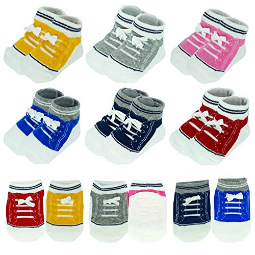 (50% OFF) 6 Pairs Non-Slip Sneaker Booties for Toddlers $5.99 – Coupon Code