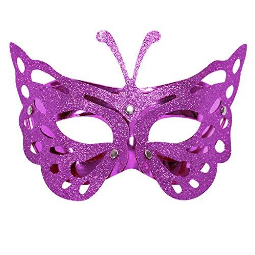 VEMOW Heißer Verkauf Karneval Maske Venezianische Maskerade Masken Karneval Party Kostüm Festival Cosplay Party Masken(X1-Violett, 14x22/5.5X8.7)
