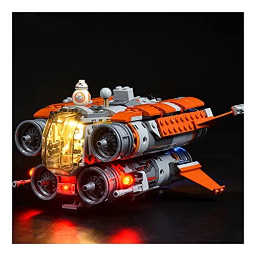 LAIQIAN Led Beleuchtungsset für Star Wars Jakku Quadjumper Raumschiff Modell, Licht-Set Kompatibel Mit Lego 75178 und 05111 Beleuchtung Bausteinen Modell - Ohne Lego Set