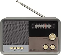 AM/FM radio that sports a clean, modern silhouette that will seamlessly fit in to a variety of decor styles Bluetooth receiver allows you to stream your favorite music wirelessly Gold knobs and buttons add a vintage vibe, while its small footprint ma...