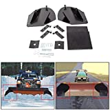 HECASA Universal Heavy Duty Snow Plow Pro-Wing Blade Extenders Extensions Replacement PW22 Compatible with Meyer Western Boss Snowplow Blade Extenders (Black)