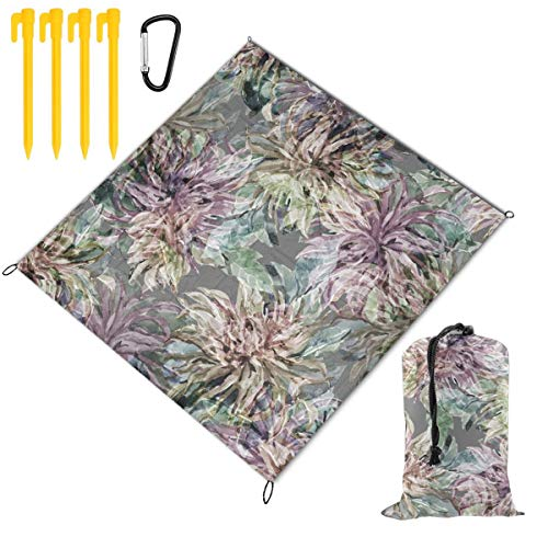 Why Choose Hucuery Watercolor Dahlia Seamless Pattern Picnic Blanket 59 X 57 in, Foldable Waterproof...