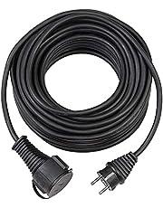 Brennenstuhl BREMAXX® verlengnoer (verlengkabel 15m kabel in zwart, voor kortstondig buitengebruik IP44, bruikbaar tot -35 °C, olie- en UV-bestendig)