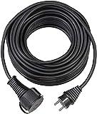 Brennenstuhl 1169890 Bremaxx, Cable alargador de Corriente, Uso Corto en Exteriores hasta-35°C, Resistente al Aceite, Negro, 15m