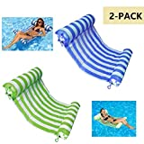 AIWAN LEZHI 2-Pack(Green,Blue) Premium Swimming Pool Float Hammock, Comfortable Inflatable Swimming Pools Lounger, Water Hammock Lounge