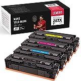 LEMERO 4 Toner per HP 203X 203A CF540X CF541X CF542X CF543X CF540A per HP Color Laserjet Pro M254 M254dw M254nw M281 M281CDW M281FDN M281FDW M280 M280NW