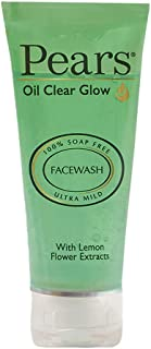 Pears Oil Clear Gentle Ultra Mild Daily Cleansing Facewash For Oil Free Matte Look, Ph Balanced, 100% Soap Free, Pure Lemo...